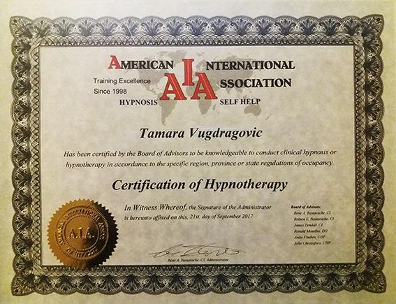 AIA Hipnoterapija