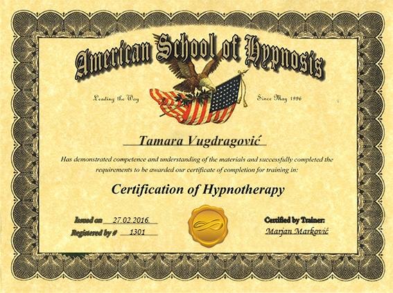 Tamara Vugdragović Hipnoterapeut