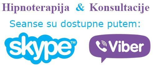 Seanse dostupne putem Skype i Viber